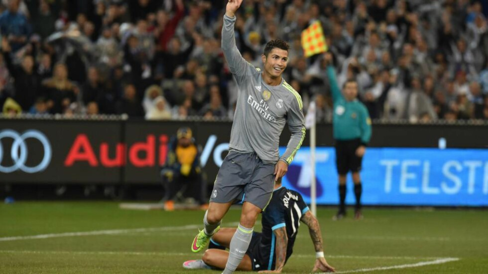 GIFTIGE: Manchester City ble hakket for små mot Real Madrid og Cristiano Ronaldo. Foto: AFP PHOTO / Paul CROCK