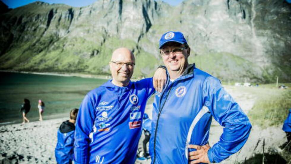 ENGASJERTE: Fotballpappaene Jan Harald Jansen (52) Walter Johnsgård (55). Foto: Thomas Rasmus Skaug / Dagbladet.