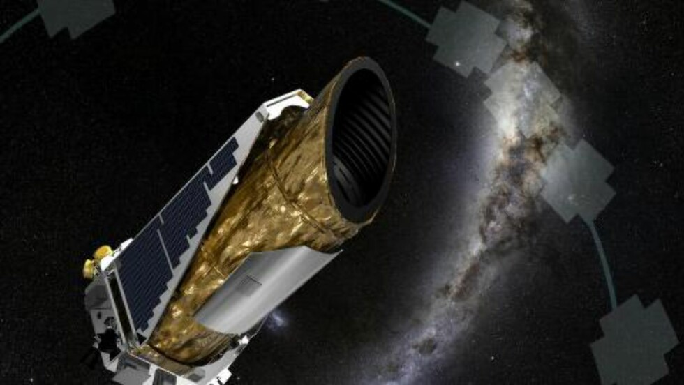 KEPLER ROMTELESKOP: Denne illustrasjonen viser Kepler romteleskop, som oppdaget planeten Kepler-452b. ILLUSTRASJON: NASA