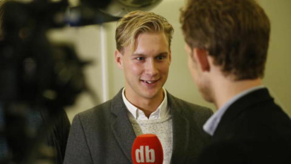 FRYKTER ØDEGAARD: Expressen-journalist Ludvig Holmberg.   Foto: Bjørn Langsem / DAGBLADET