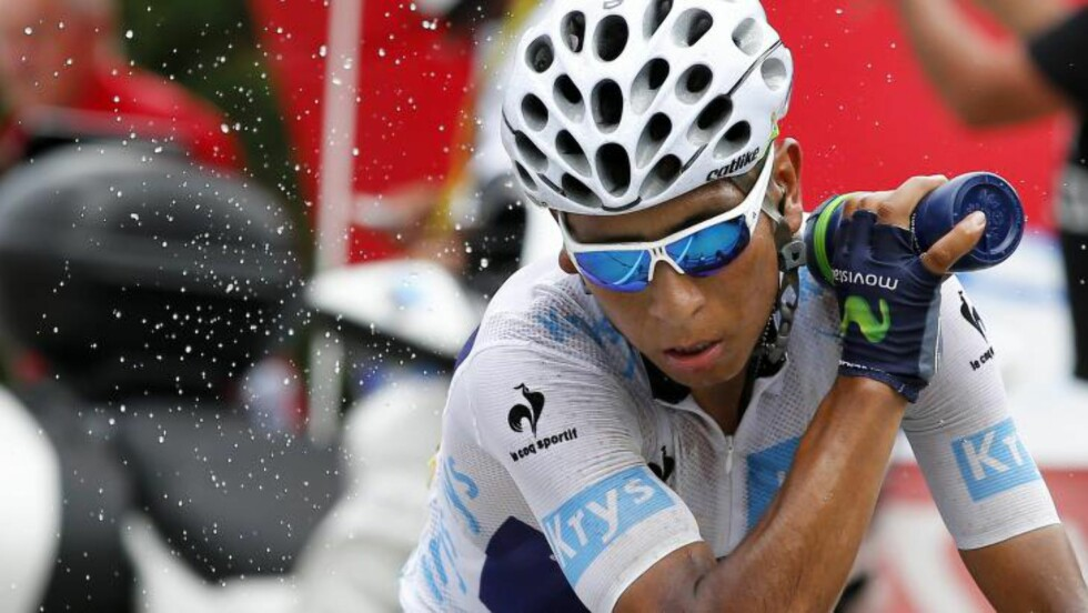 SISTE FORSØK: Kan Nairo Quintana kopiere Carlos Sastre og ta den gule trøya på Alpe d'Huez? Foto: YOAN VALAT / EPA