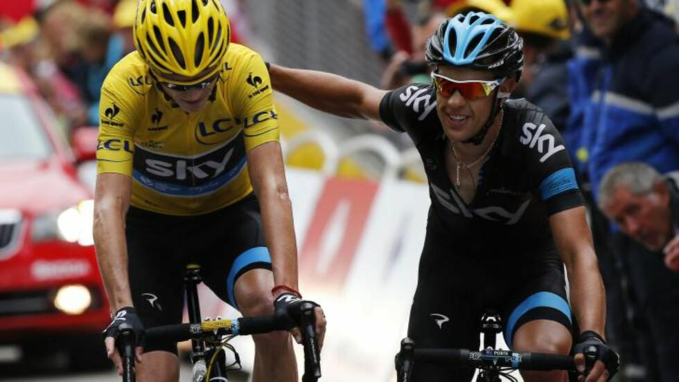 DÅRLIGE MINNER: Chris Froome hadde en tøff dag på sykkelen sist Tour de France var innom Alpe d'Huez. Nå venter monsterfjellet en gang til. Foto: JEFF PACHOUD / AFP