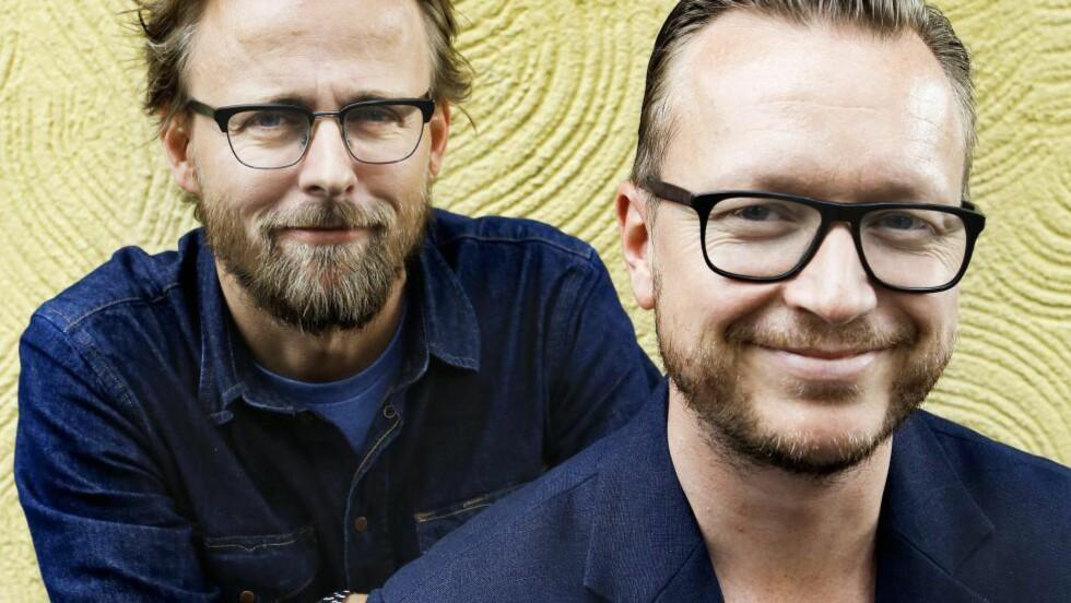 GJØR SUKSESS:  De norske regissørene Joachim Rønning og Espen Sandberg regisserer den nye «Pirates of the Caribbean»-filmen. Nå er de hjemme på ferie i Norge. Foto: NTB Scanpix