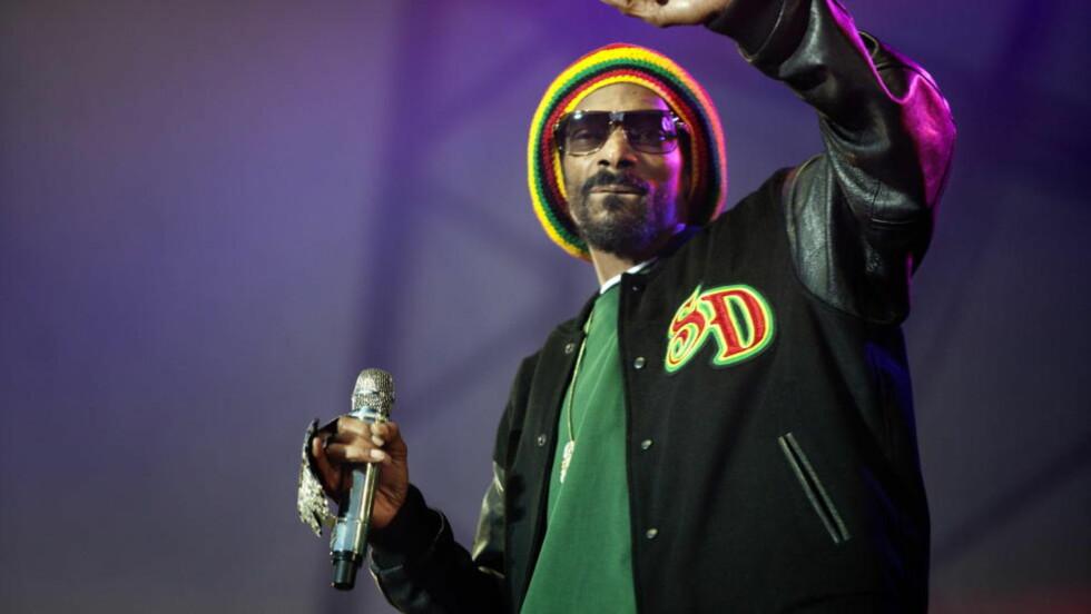 SPILTE KONSERT:  Snoop Dogg, også kjent som Snoop Lion, spilte konsert i Danmark i går. Her fra Hovefestivalen i 2002. Foto:   Anders Grønneberg/ Dagbladet