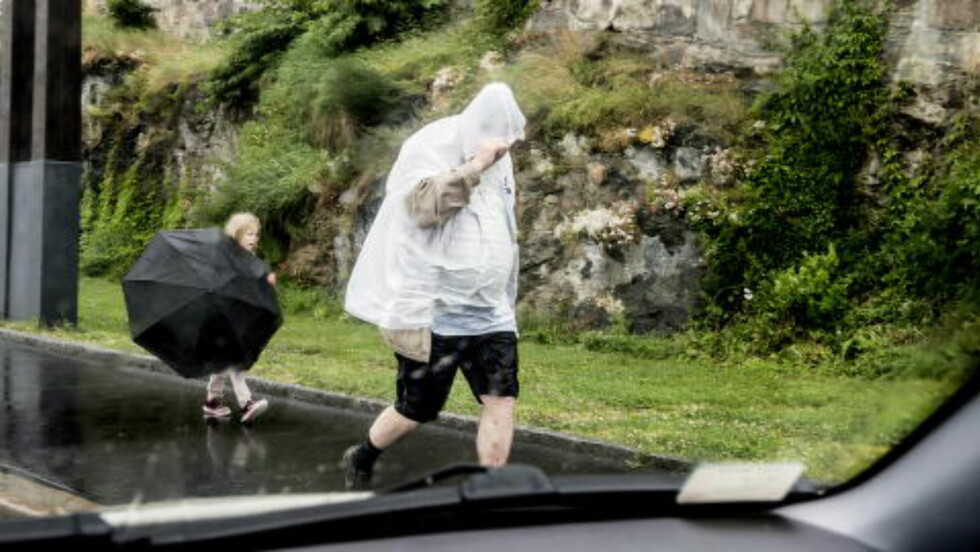 OSLO-VÆR TIDLIGERE I UKA:  Lurt å finne fram paraply og regnjakke resten av denne helgen, også. FOTO: THOMAS RASMUS SKAUG/DAGBLADET.