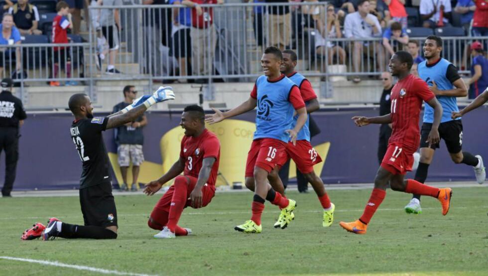 JUBLET: Lille Panama slo USA i bronsefinalen i Gold Cup. Foto: Scanpix