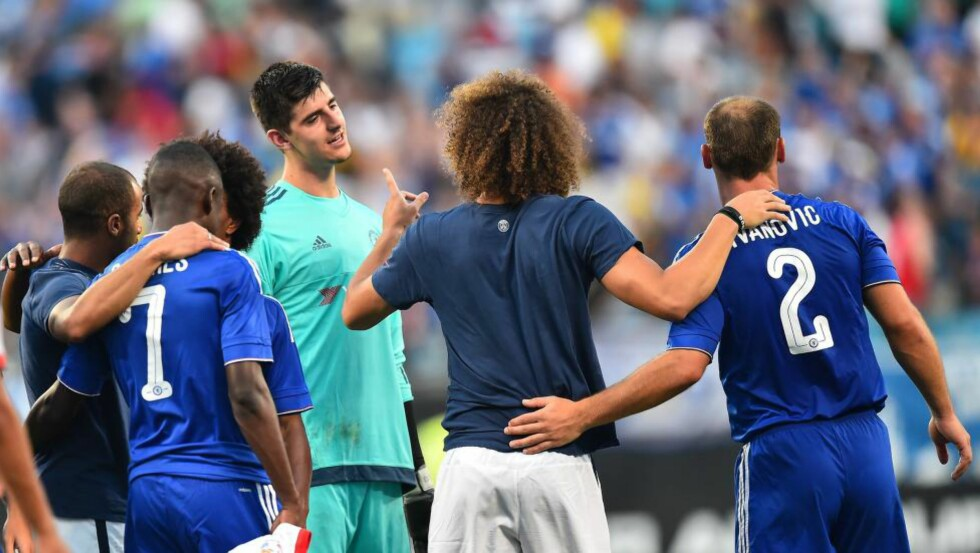 MATCHVINNER: Thibaut Courtois erstattet Asmir Begovic i pause, og ble seinere kampavgjørende. Foto: Scanpix