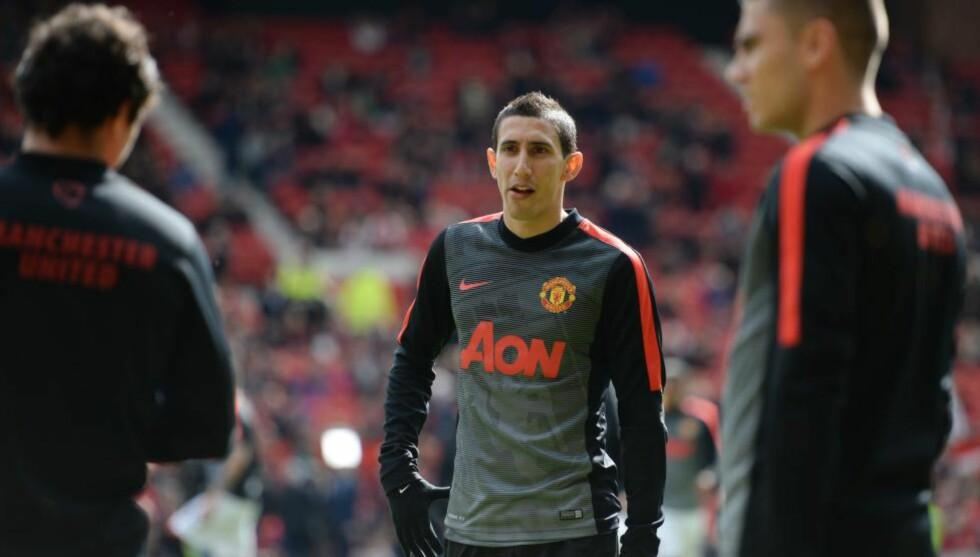 PÅ VEI BORT: Angel Di Maria kan ha spilt sin siste kamp for Manchester United. Foto: Scanpix