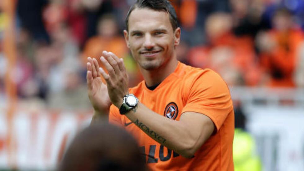 MINDRE KJENT: Rodney Sneijder spiller i skotske Dundee United. Foto:  Action Images / Graham Stuart / NTB Scanpix
