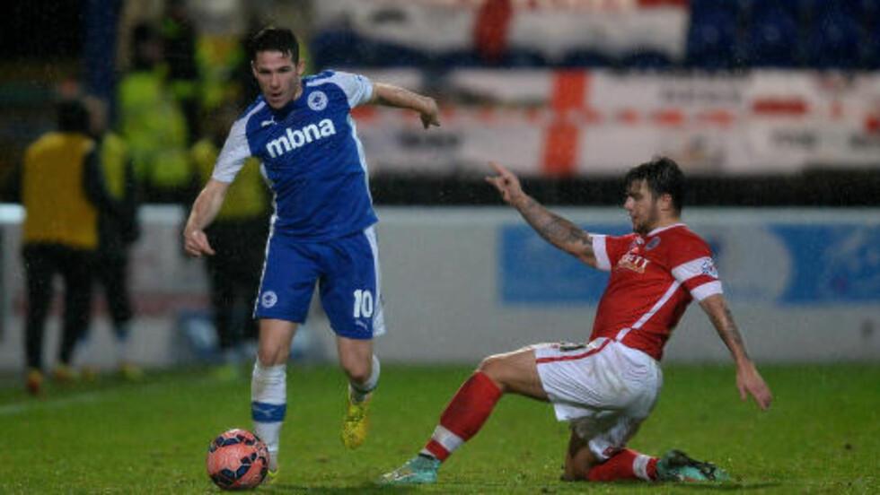 MINDRE KJENT: John Rooney (t.v) spiller for Chester FC i engelsk femtedivisjon. Foto: NTB Scanpix