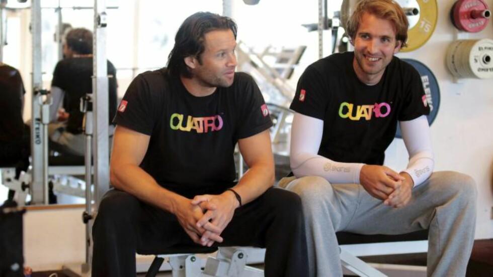 EM-KLARE: Iver Horrem (t.v.) og makker Geir Eithun spiller EM i Østerrike denne uka. FOTO: METTE BUGGE / NTB Scanpix