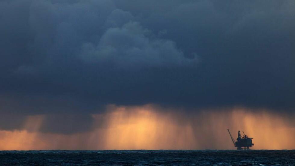 RESULTATET FALT: Statoils resultat falt med 30 prosent, og den lave oljeprisen får skylda. Her er den Statoil-opererte oljeplattformen Brage, som ligger på 13 km øst for Osebergfeltet. Foto: Roger Hardy / Samfoto