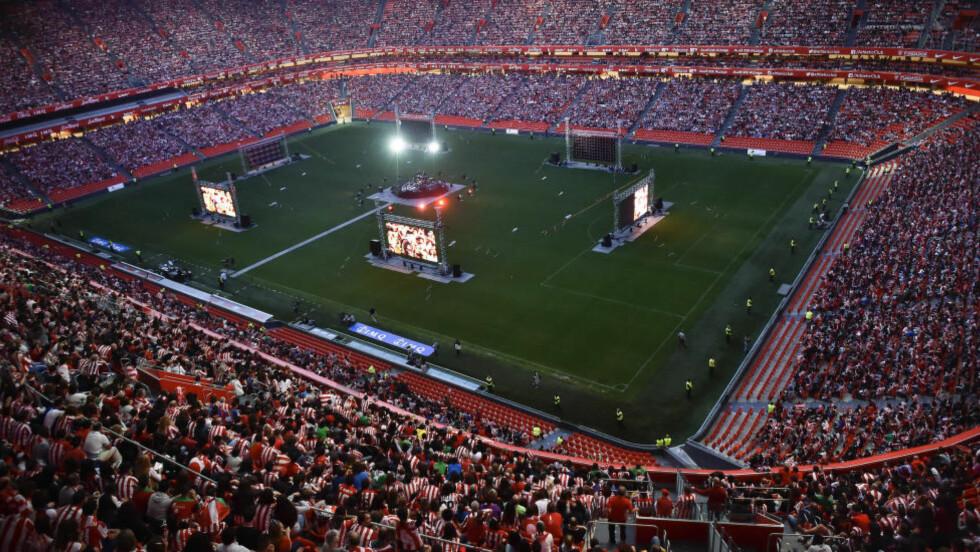 BØTELAGT:  Athletic Bilbao og Barcelona er bøtelagt etter at de buet under det spanske nasjonalsangen.  Foto: NTB Scanpix