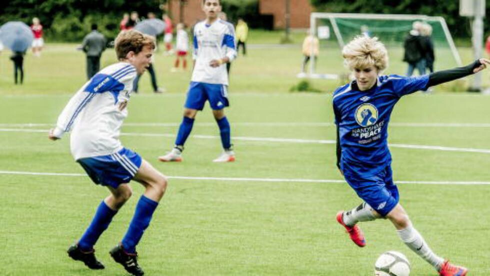 Supertalent:Edvard Sandvik Tagseth (14) er Norges nye Martin Ødegaard.  Foto:Thomas Rasmus Skaug