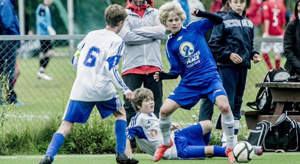 Ekerbergsletta, 20152807: Edvard Sandvik Tagseth (14) er norges nye Martin Ødegaard.  Foto:Thomas Rasmus Skaug
