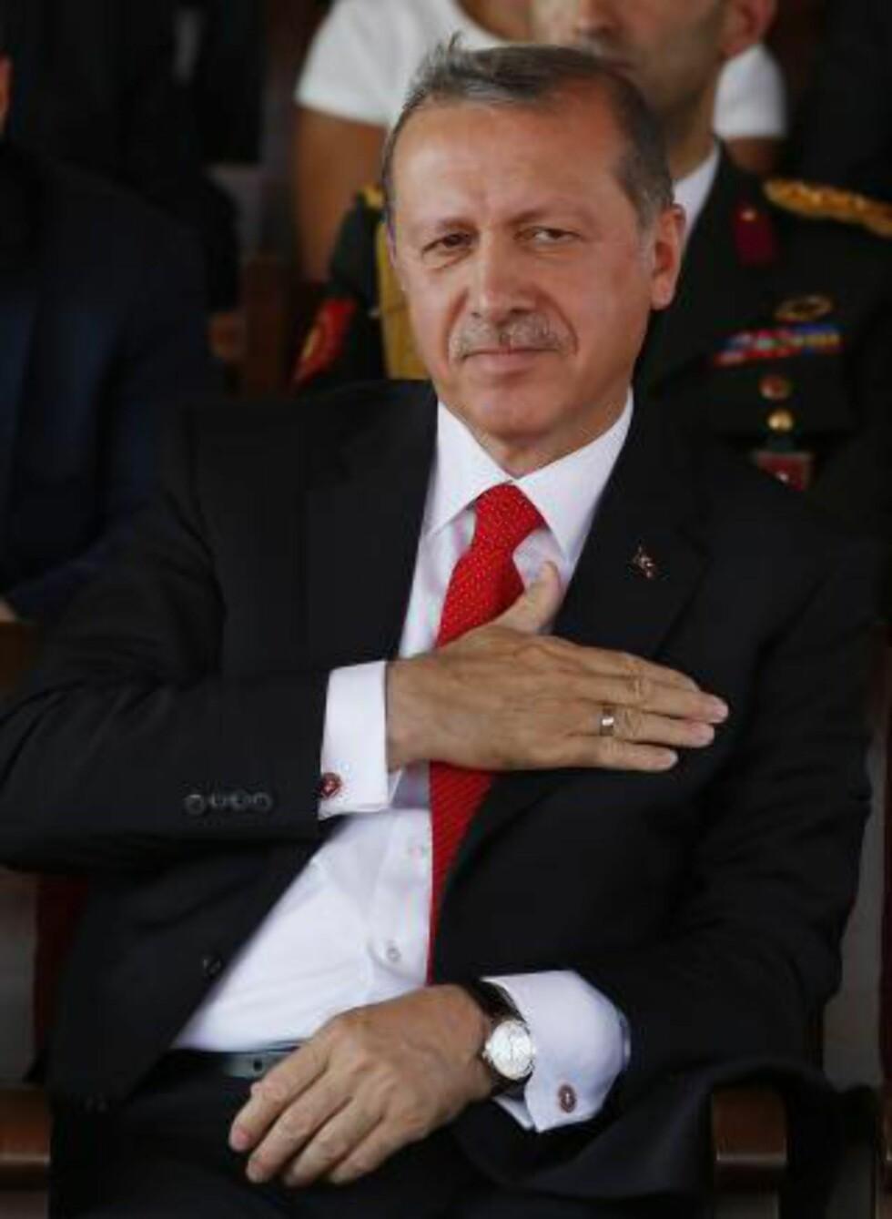 - IKKE MULIG: Tyrkias president Recep Tayyip Erdogan gir opp fredsprosessen. FOTO: AFP PHOTO / FLORIAN CHOBLET / NTB Scanpix