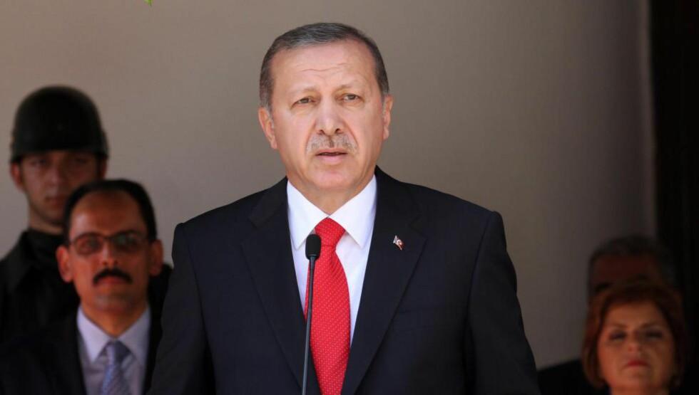 VIL IKKE MER: Nå bryter Erdogan fredsprosessen med kurderne. Foto: EPA/STRINGER/NTB Scanpix