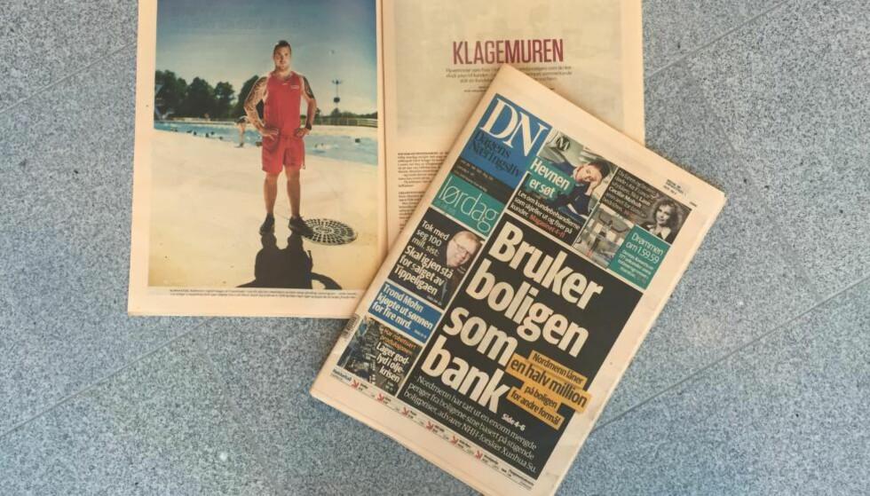 SKANDALEOPPSLAG: Det var oppslag i lørdagens DN som inneholdt plagiat og fusk. Foto: Merete Skogrand.