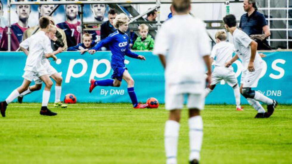 Fullt driv: Edvard Sandvik Tagseth (14) er Norges nye Martin Ødegaard.  Foto:Thomas Rasmus Skaug