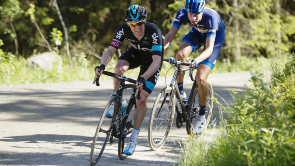 SLITEN: Til tross for sykdom og sliten kropp, var Lars Petter Nordhaug blant de sterkeste i årets NM-ritt. Nå håper Sky-rytteren at en roligere sommer har gitt han overskuddet han trenger. Foto: Kristoffer Øverli Andersen (www.procycling.no)