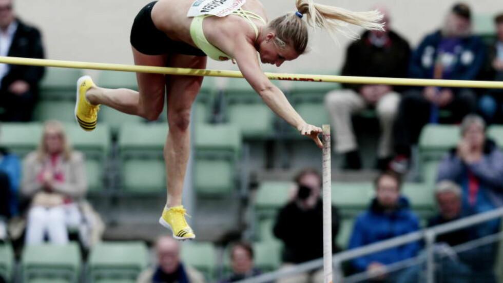 I AKSJON:  Cathrine Larsåsen under Bislett Games i 2013.  Foto: Stian Lysberg Solum / NTB scanpix