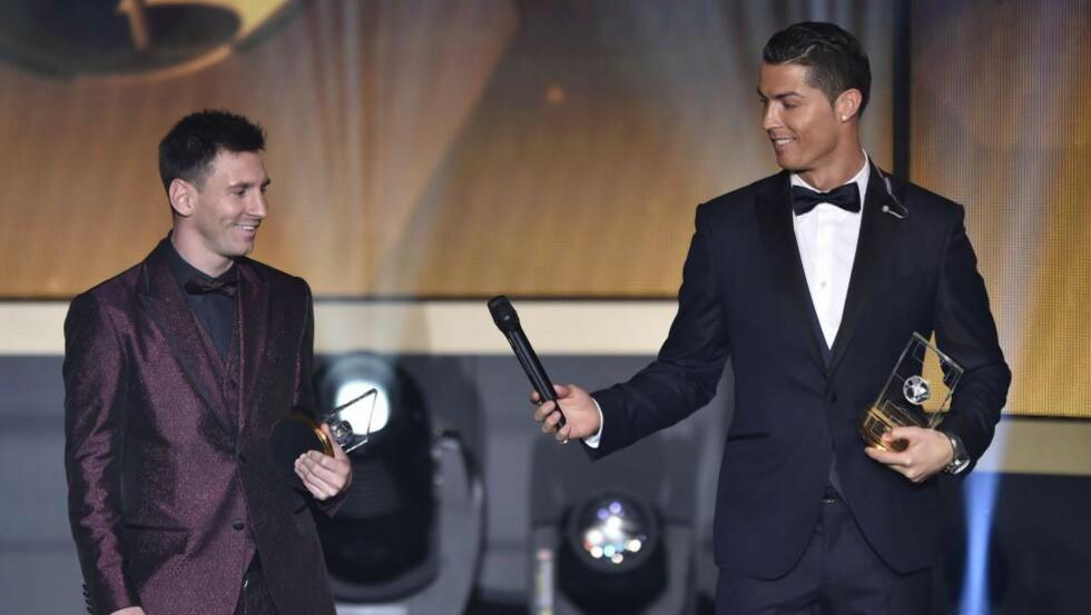 GULLGUTTA: Rivaldo mener nivået er forklaringen på hvordan Lionel Messi og Cristiano Ronaldos er så overlegne. Foto: AFP PHOTO / FABRICE COFFRINI / NTB Scanpix