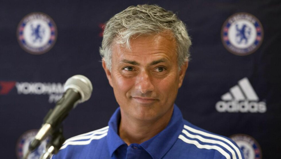 Chelsea FC manager Jose Mourinho speaks to media at a news conference, Tuesday, July 21, 2015 in Montreal.THE CANADIAN PRESS/Graham Hughes