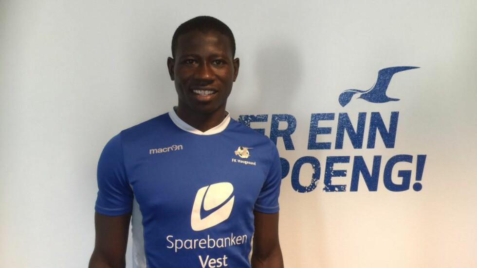 FRA GENT: Nigerianske Sad'eeq Yusuf Ahmat kommer på lån til Haugesund fra belgiske Gent. Foto: Per Ivar Reine / FK Haugesund