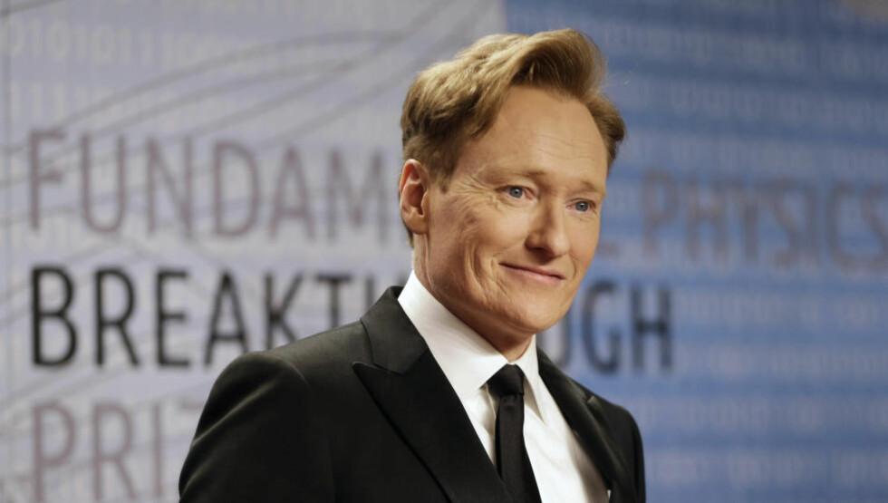 SAKSØKT: Komiker Conan O'Brien anklages for å ha stjålet vitser fra Twitter. Foto: AP/NTB Scanpix