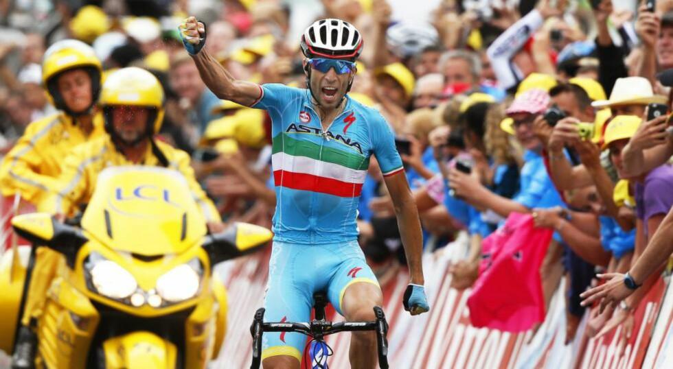 SLO TILBAKE: Fjorårsvinner Vincenzo Nibali hadde en forferdelig start på Tour de France, men slo tilbake med etappeseier. Fjerdeplassen sammenlagt var dog langt under forventningene. Foto: SEBASTIEN NOGIER (Scanpix/Epa)