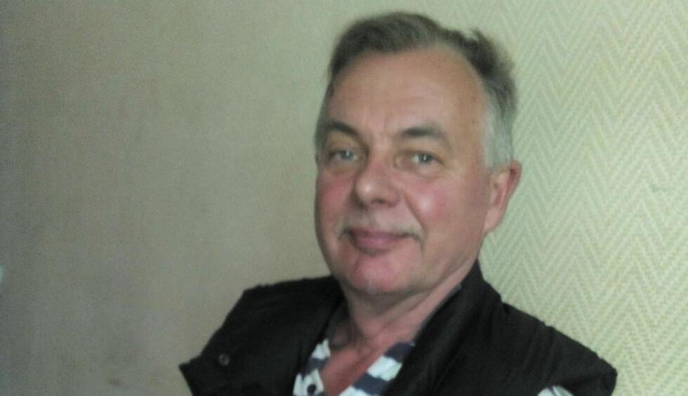 KJØRTE SEG VILL i ØST-UKRAINA, TATT TIL FANGE: Den sandnesbosatte svensken Sølve Nilsson kjørte seg vill og ble tatt til fange av pro-russiske separatister. I fangenskap ble han vitne til dramatikken da passasjerflyet MH17 ble skutt ned i i juli i fjor. 298 mennesker ble drept. Etter 23 dager i fangenskap, ble han reddet.  Foto: Vasilij Budik / TT / NTB scanpix