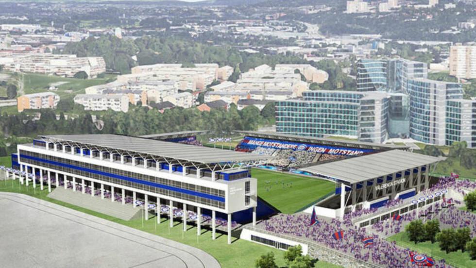 SLIK BLIR DET: Slik blir Vålerenga stadion. Bilde brukt med tillatelse fra VIF