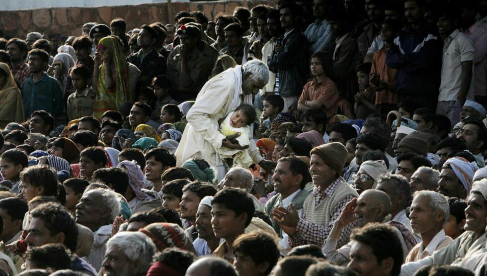 VOKSER MEST: Befolkningen vokser raskest i India. FN-prognoser anslår at India vil passere Kina som verdens mest folkerike land.   Foto: Jacques Hvistendahl / Dagbladet