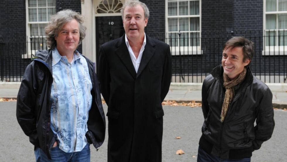 BORTE: James May, Jeremy Clarkson og Richard Hammond er ferdig med «Top Gear» og på vei inn i nye bilprosjekter. Foto: NTB Scanpix