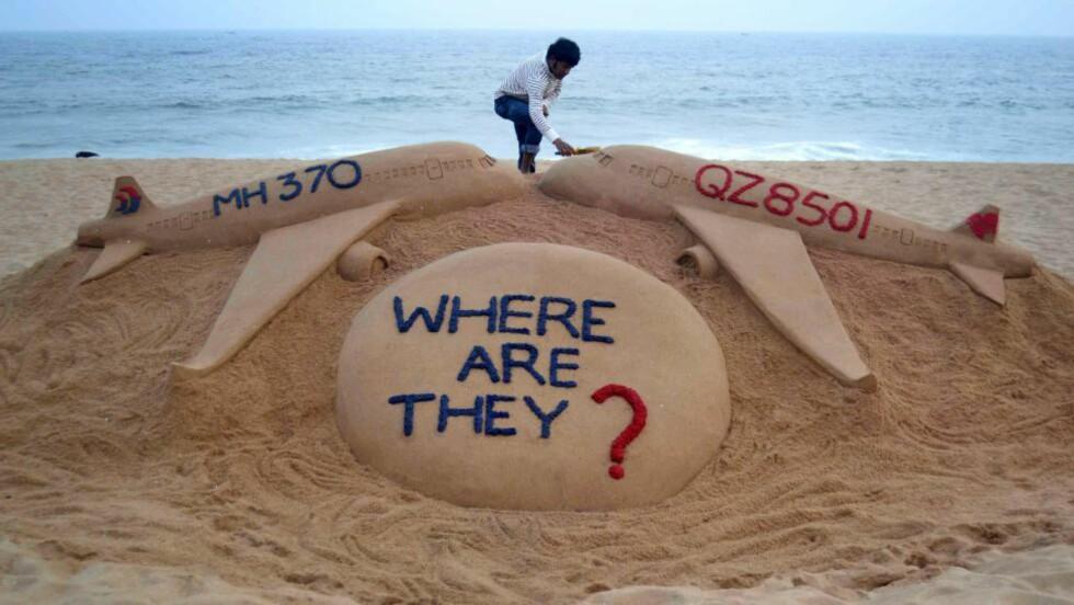 SPØRSMÅL:  Siden det malaysiske flyet forsvant i fjor vinter, har de ubesvarte spørsmålene vært mange. Foto: Afp Photo / NTB Scanpix