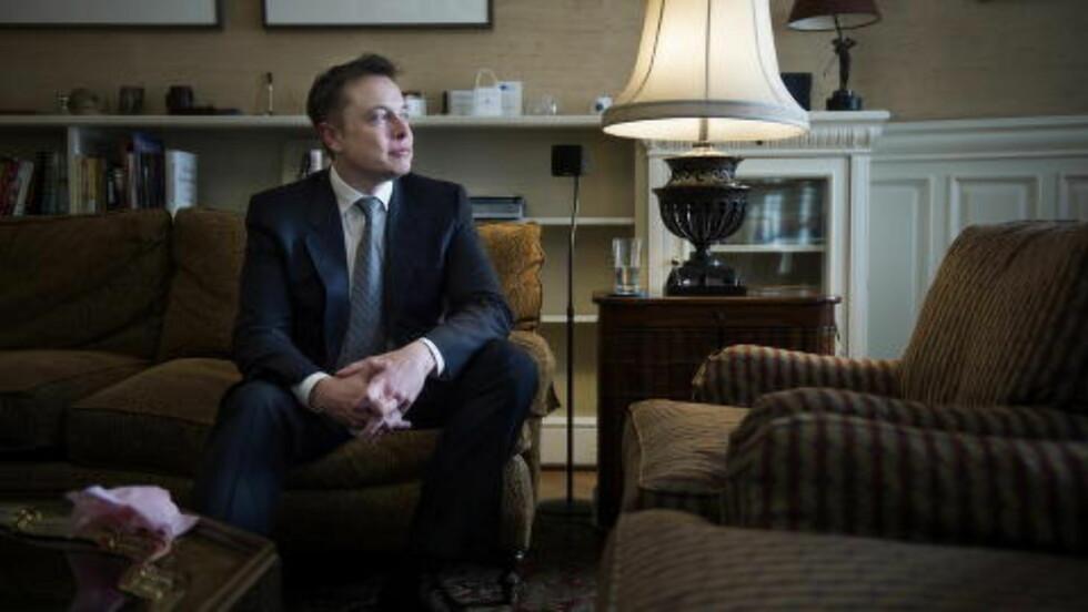 GRUNNLEGGER:  Elon Musk, Tesla-grunnleggeren, her under sitt Oslo-besøk i 2013. Foto: Benjamin A. Ward / Dagbladet