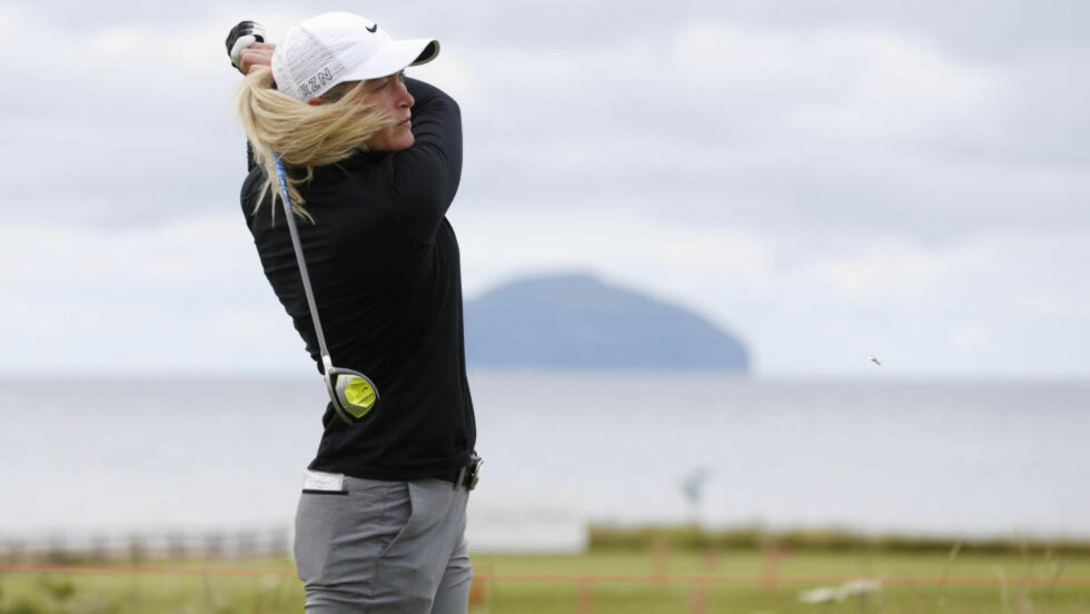 Golf - RICOH Women's British Open 2015 - Trump Turnberry Resort, Scotland - 30/7/15 Norway's Suzann Pettersen tees off at the 2nd during the first round Action Images via Reuters / Russell Cheyne Livepic