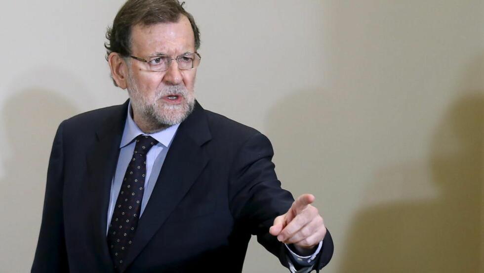 FÅR SKRYT: Statsminister Mariano Rajoy får skryt for gjenopphentingen av økonomien i Spania. Foto: REUTERS/Andrea Comas