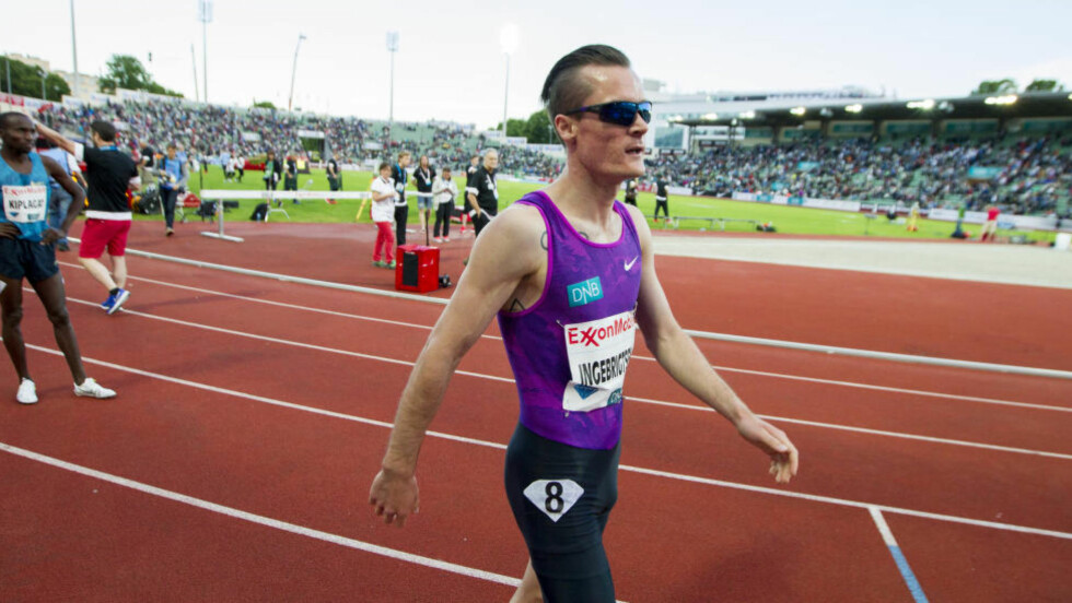 SKUFFET: Norske Henrik Ingebrigtsen skuffet noe på 1500 m under Diamond League-stevnet i Stockholm. Nordmannen endte på 7.-plass. Foto: Vegard Wivestad Grøtt / NTB scanpix