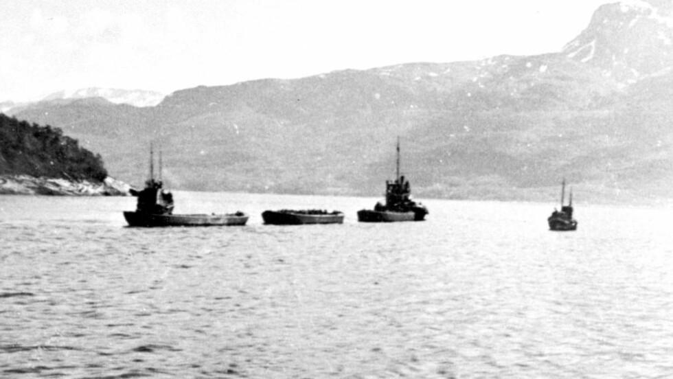 FANGETRANSPORT: Juni 1942 ankom 900 jugoslaviske fanger leiren Beisfjord i Ofoten med båt. En knapp måned senere, tente SS på brakkene deres. 287 fanger ble skutt eller brent i hjel. Foto: NTB SCANPIX