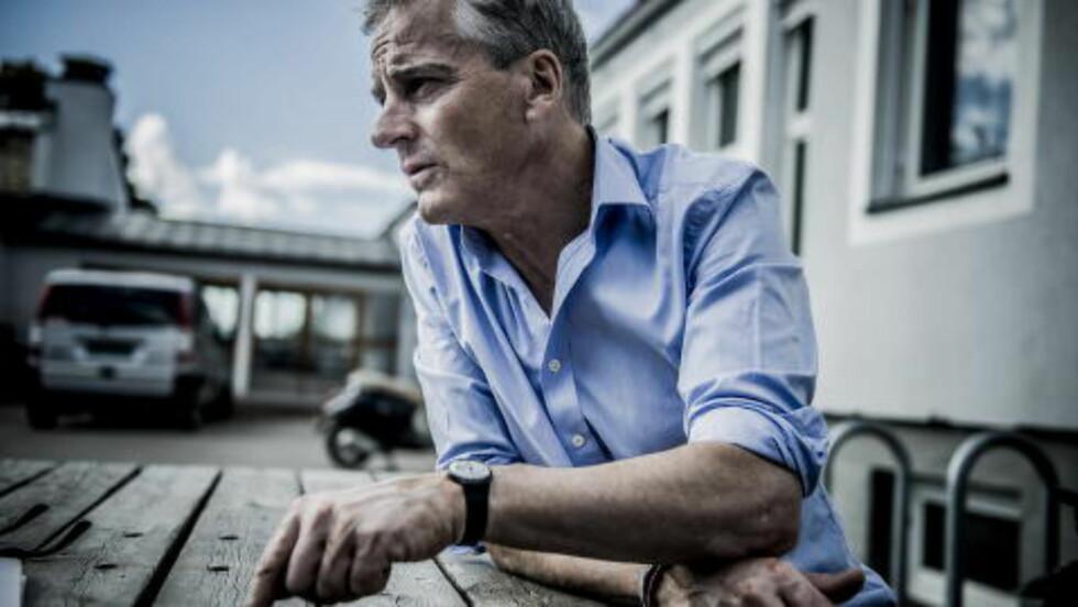 Lykke til, Erna:  Jonas Gahr Støre ønsker Erna Solberg lykke til med valgkampen.  Foto:Thomas Rasmus Skaug