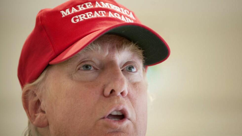 VIL BLI PRESIDENT:  Donald Trump ønsker å stille som presidentkandidat til USAs neste valg. Her under tennisturneringen British Open. Foto: Scanpix