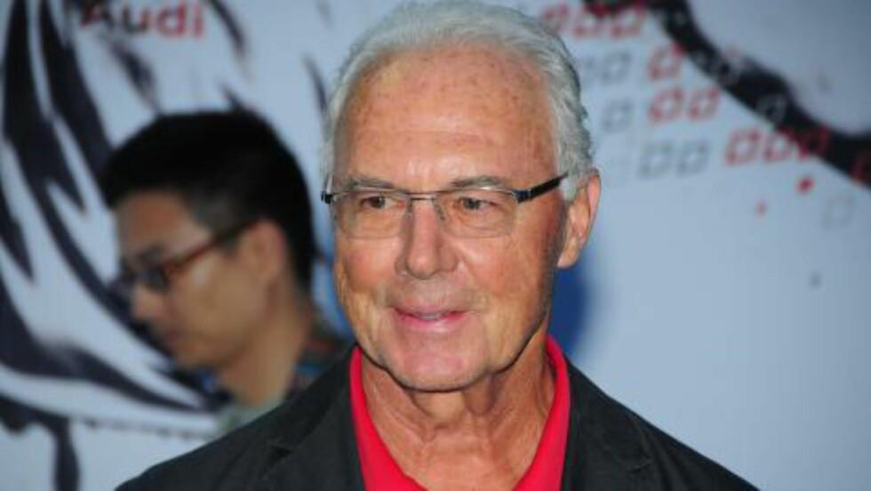 I SORG: Franz Beckenbauer. Foto: NTB Scanpix