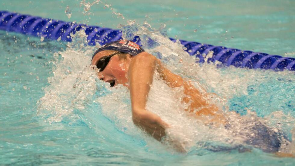 NORSK REKORD:  Henrik Christiansen satte norsk rekord på 400 meter under VM i svømming.  Foto: Maja Suslin/ SCANPIX