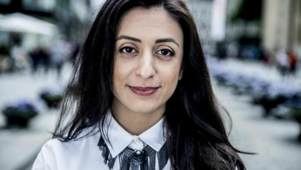 SPØR TAJIK: Politimannens uttalelser kommer etter at Ap's Hadia Tajik sa til Aftenposten at hun er kritisk til å forby utsagn som hyller terror. Foto: Thomas Rasmus Skaug / Dagbladet