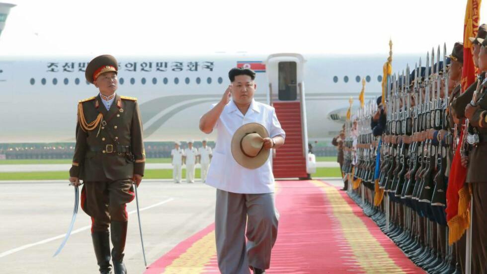 HYLLES: Den nordkoreanske presidenten Kim Jong-un har av Indonesia blitt hedret med det de kaller en «pris for global statsmannskunst». Det er Sukarno-senteret som deler ut prisen, og nyheten ble annonsert av Rachmawati Soekarnoputri, datteren til Sukarno som var landets første president. Det skriver The Jakarta Globe. Foto: AFP PHOTO / KCNA via KNS / NTB Scanpix