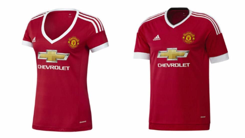 NYE DRAKTER: Manchester United lanserte sine nye Adidas-drakter i helga, der særlig drakta ment for kvinner vakte oppsikt. Foto: Manutd.com
