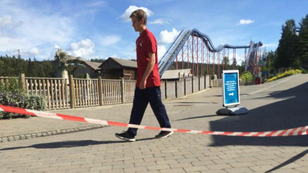 18-ÅRING SKADET: En sommervikar ved Tusenfryd ble i forrige uke alvorlig skadet da han fikk foten i klem ved attraksjonen «Super splash». Foto: Kahn Farooq/Dagbladet