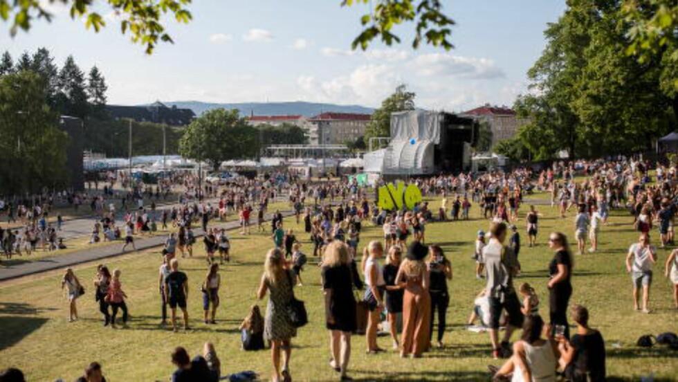 NYTT HJEM: I fjor flyttet Øyafestivalen fra Middelalderparken til romsligere Tøyenparken. Foto: Jørgen Kvalsvik / Dagbladet