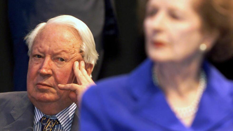 DØDE I 2005: Tidligere statsminister sir Edward Heath døde for ti år siden. Foto: Reuters / NTB Scanpix